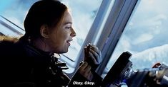 Omg. regram @miiina.wall This scene was so cute! The way she called and was like is anyone there cause I'm about to drive off a cliff and then she finds the oreos and goes off probably my favorite scene #pennyrobinson #lostinspace #redhead