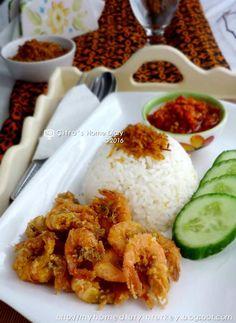 Citra's Home Diary: Nasi Udang Sambal ala Bu Rudi / Indonesian Shrimp rice with sambal