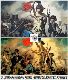 La Libertad Guiando al Pueblo - Eugène Delacroix vs. Tableaux Vivants, Steampunk, Star Wars Personajes, Photoshop, Legoland, Philippe, Artwork, Movie Posters, Blog