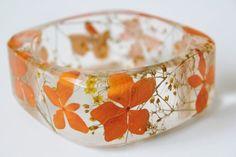 Handmade Real Flower Resin Bangle