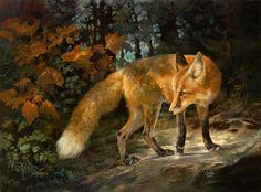 Fantasy art and wildlife art prints by Julie Bell Fox Painting, Autumn Painting, Painting Prints, Julie Bell, Bell Art, Desert Animals, Fabulous Fox, Fox Print, Animal Totems