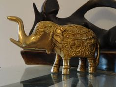 Elephant Brass Ornament. Indian brass sculpture. by Artikrti