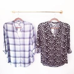 Which Dane Top from Soft Joie do you like better?! We can't decide!! #softjoie #plaid #leopard #needthemall #springstyle #dcfashion #shoplocal #boutique #shoprefine