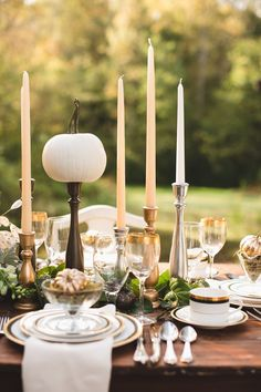 Style Me Pretty | Thanksgiving Tablescape