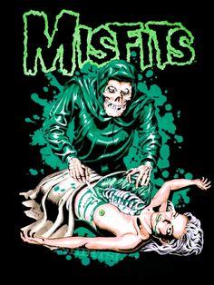 Music Wall Art, Music Artwork, Misfits Wallpaper, Another Green World, Misfits Band, Punk Poster, Rock Band Posters, Dark Artwork, Extreme Metal