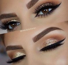 Gold Glitter Wedding Eye Makeup Look ., Gold Glitter Wedding Eye Makeup Look . Gold Glitter Wedding Eye Makeup Look More Gold Glitter Wedding Eye Makeup Look More. Gorgeous Makeup, Pretty Makeup, Perfect Makeup, Gold Makeup Looks, Perfect Eyes, Amazing Makeup, Makeup Looks For Prom, Prom Looks Make Up, Sweet 16 Makeup