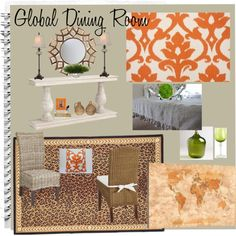 Global Dining Room Mood Board