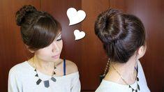 Everyday Perfect Bun Updo Hairstyle for Medium Long Hair Tutorial