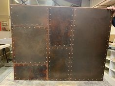 Luxury Home Decoration Ideas Sheet Metal Wall, Metal Wall Panel, Metal Walls, Panel Walls, Aged Copper, Copper Wall, Home Wet Bar, Patina Metal, Steel Panels