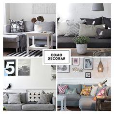 Sofa cinza e suas opcoes de decoracao