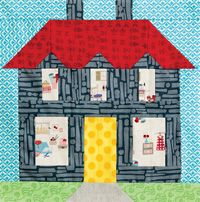 Parade of Homes - House Quilt Block House Quilt Patterns, House Quilt Block, Quilt Block Patterns, Pattern Blocks, Quilt Blocks, Landscape Quilts, Fabric Houses, Parade Of Homes, Quilt Kits