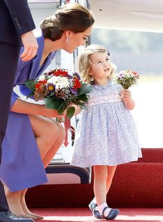 Duchess Kate, Prince William and their adorable kids, Charlotte and George, arrived at the Berlin airport on Wednesday, July 19