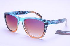 Oakley Frogskins Sunglasses Colorful Pattern Frame Colorful Lens 0390
