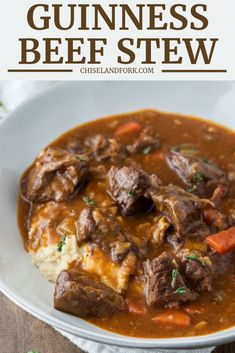 Frugal Food Items - How To Prepare Dinner And Luxuriate In Delightful Meals Without Having Shelling Out A Fortune With Beef Chuck, Vegetables And You Guessed It, Guinness Beer, This Delicious Irish Guinness Beef Stew Is Comfort Food Irish Recipes, Beef Recipes, Soup Recipes, Cooking Recipes, Healthy Recipes, Beef Chuck Recipes, Irish Desserts, Asian Desserts, Irish Meals