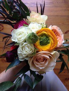 Ranunculus, carnations, roses