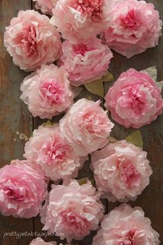 Peony Coffee Filter Flowers Tutorial - Pretty Petals