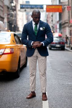 Street Style: The Man With the Green Tie: The Daily Details: Blog : Details
