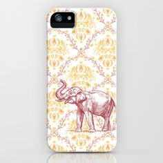 elephant iPhone Case by Carrie Baum - $35.00