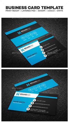 Creative Corporate Business Card Template | #businesscard #businesscardtemplate | Download: http://graphicriver.net/item/creative-corporate-business-card/10336983?ref=ksioks