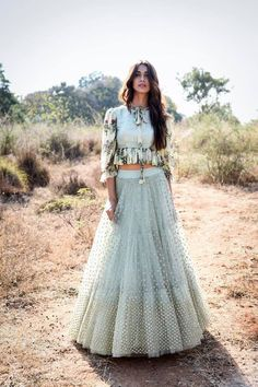 A C-Green Embroidered Heavy Designer Lehenga Choli Party Wear Indian Dresses, Designer Party Wear Dresses, Indian Gowns Dresses, Indian Bridal Outfits, Party Wear Lehenga, Indian Fashion Dresses, Kurti Designs Party Wear, Dress Indian Style, Lehenga Designs