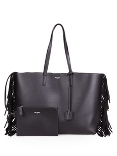Large fringed leather shopping bag | Saint Laurent | MATCHESFASHION.COM UK