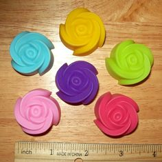 Large Rose Flexible Silicone Molds for Polymer Clay Food