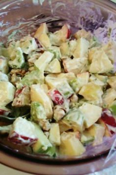Caramel Apple Salad #Recipe #Weight_Wathers 2 Points I omitted the Cool Whip.