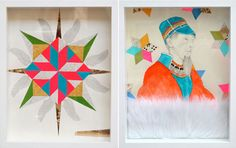 Lisa Congdon's beautiful mixed media pieces