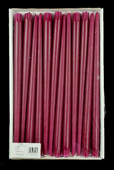 "Magenta 15"" taper candles (cotton wicks) 12 for $13"