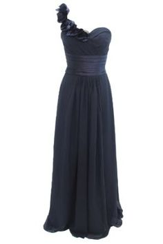 Dressystar Long Cheap Black Bridesmaid Dresses Wedding Party Dress. Would be really pretty in another color
