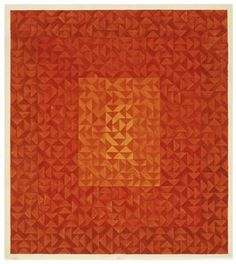 Anni Albers, Color Study (reds and orange), 1970  Gouache and pencil on paper (blueprint). JAAF: 1994.10.35  48.26 x 43.18cm (19 x 17 inches)  ©2003 The Josef and Anni Albers Foundation / Artists Rights Society (ARS), New York