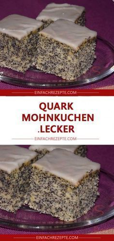 Quark poppy seed cake LECKER Among the list of crucial styles of 5 green tea Easy Cheesecake Recipes, Easy Cookie Recipes, Dessert Recipes, Cheesecake Cookies, Brownie Recipes, Easy Recipes, Easy Vanilla Cake Recipe, Chocolate Cake Recipe Easy, Homemade Chocolate