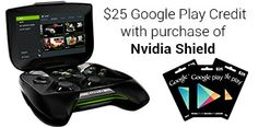 NVIDIA SHIELD Deal Bundles USD 25 Google Play Credit with the USD 199 Gaming Device. Game lovers know more about the deal here.