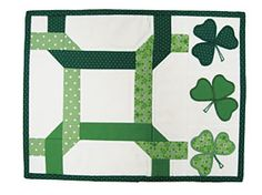 St. Patrick's Day candle mat pattern. Free from Connectingthreads.com