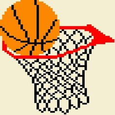 Looking for your next project? You're going to love Basketball Hoop 5 Pattern by designer PunkysPatterns.