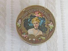 Antique Manon Lescaut Face Powder Box with Lovely by KISoriginals, $95.00