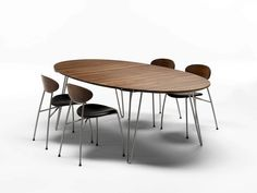 Tavolo allungabile ovale GM 6652 by Naver Collection | design Nissen and Gehl