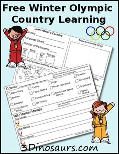 These are cool!  Free Winter Olympic Country Learning Printable Pack - Money Saving Mom®