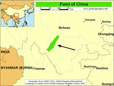 Pumi of China map