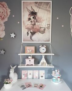 Inspiration from Instagram- M a l i n N i l s e n @mamma_malla - pastel girls room ideas, pink and grey girls room design, girls kidsroom, kidsroom decor