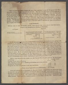 The Schuylkill Navigation Company ask leave of the Legislature to open the navigation of the River Schuylkill, by means of dams, collateral cuts and locks ... · Schuylkill Navigation Company · 1815? · Albert and Shirley Small Special Collections Library, University of Virginia.