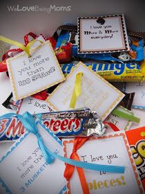 Candy bar printables for party favors