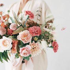 Bouquet by Everly Alaine Florals Bridal Bouquet Fall, Winter Bouquet, Bridal Flowers, Pink Bouquet, Bride Bouquets, Bridesmaid Bouquet, Floral Wedding, Fall Wedding, Garden Wedding