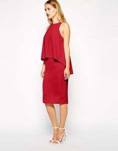 ASOS | ASOS Pencil Dress With Layered Top at ASOS