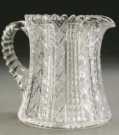 941: CIRCA 1900. A FINE AMERICAN BRILLIANT CUT GLASS CIDER PITCHER : Lot 941