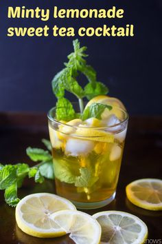 What happens when you take #lemonade and mix it with sweet tea and a little fresh mint? You get the best darn drink of the #summer that is sure to please any #cocktail drinker. #cocktailrecipes #drinks #drinkrecipes