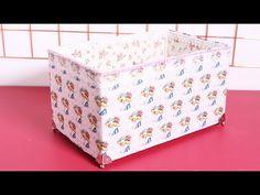 Reciclagem Caixa de Papelão Forrada com Tecido | Cantinho do Video