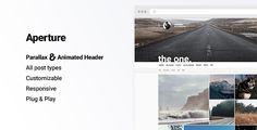 Aperture - Creative Portfolio with Parallax Cover #tumblr #theme #layout #portfolio #inspire #gallery #grid #parallax #cover