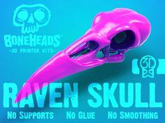 Boneheads: Raven - Skull Kit - PROMO - 3DKitbash.com 3D Printing 20001