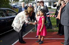 Queens & Princesses:  as part of the celebration of 200 years of compulsory education in Denmark, Princess Mary visited a school in Greve, east of Denmark. Students participating in the day of the year that marks the beginning of the Thanksgiving holiday in Denmark.
